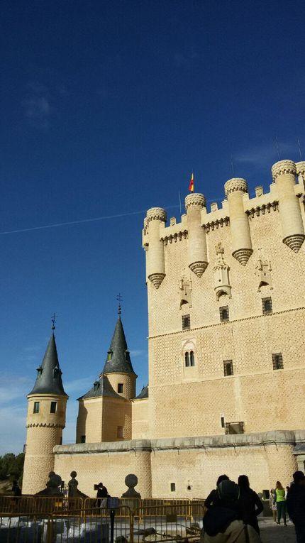mercredi : journée à Ségovie, avec l'Alcazar, le palais de San Ildefonso et son jardin, et le château de Coca entre Ségovie et Valladolid.. et les anniversaires de l'année !!!