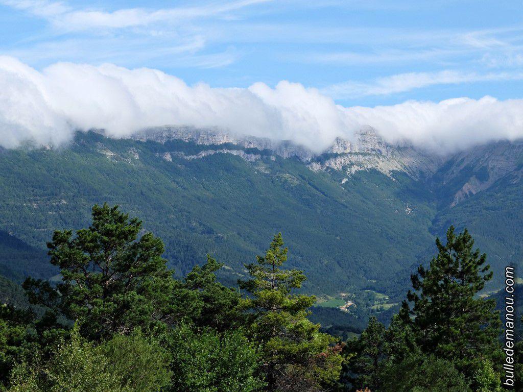 Le panorama était grandiose sur les montagnes