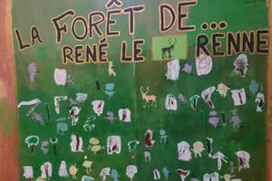 La forêt niçoise de René le renne chez Nicole