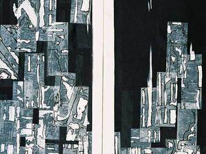 Collage et peinture 2003 / 2004 (Cliquez pour agrandir)