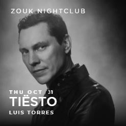 Tiësto date | Zouk Nightclub | Las Vegas, NV - october 31, 2021