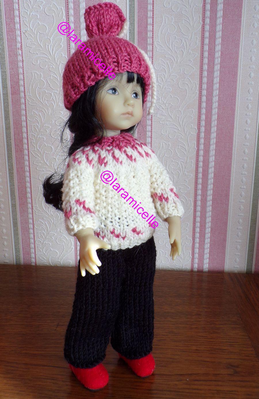 tuto gratuit  poupée  : bonnet fantaisie pour tricoteuses débutantes