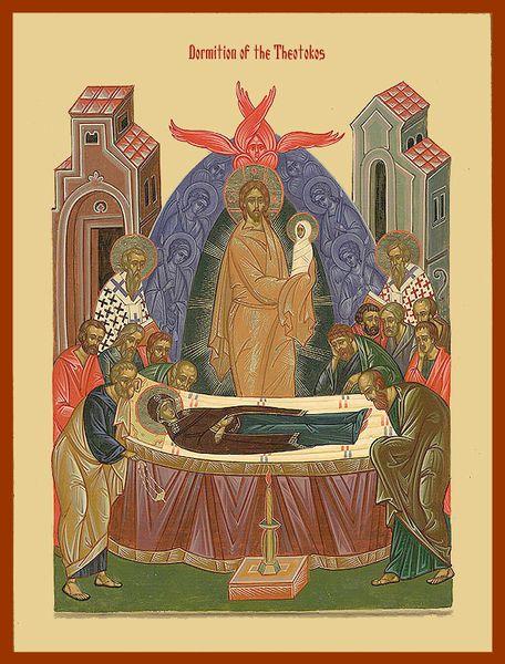 Fêté le 14 août : Paramonie de la Dormition de la Mère de Dieu