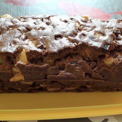 Cake à la farine de chataigne au jambon et comté