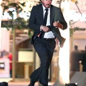Keanu Reeves bloodied on set as he continues shooting film on location