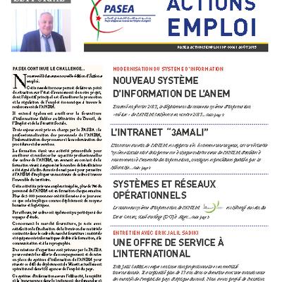 La quatrième lettre du PASEA, Actions emploi