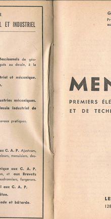 Un manuel d'apprentissage de la menuiserie de 1947