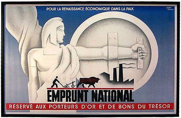 PUBLICITES : LES  GRANDS  NOMS  DE  L'AFFICHE...   Georges Léon Jean CARLU.