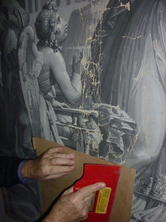 Restauration de papiers peints