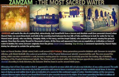 ZAMZAM : Most sacred Water