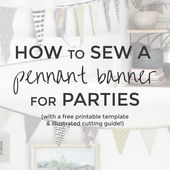 How to Sew a Pennant Banner for Parties   Radiant Home Studio