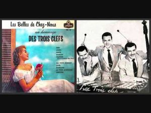 les trois clefs, l'un des premiers groupes québécois à prendre le rock au sérieuc dès 1956 sous forme de trio