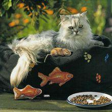 Grilles chat, poisson, souris...