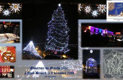 6 décembre 2019 Inauguration à Neuf-Brisach du 26 ème Marché de Noël