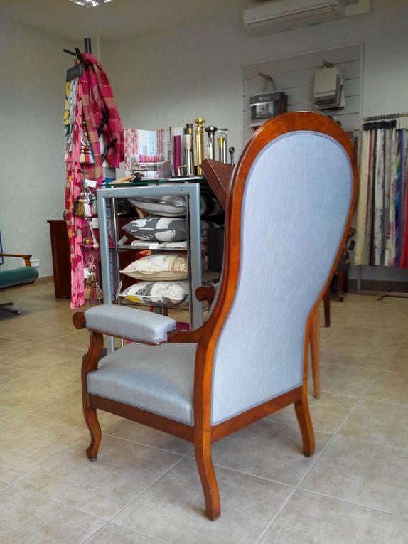 réfection complète fauteuil Voltaire Arabesque thiers