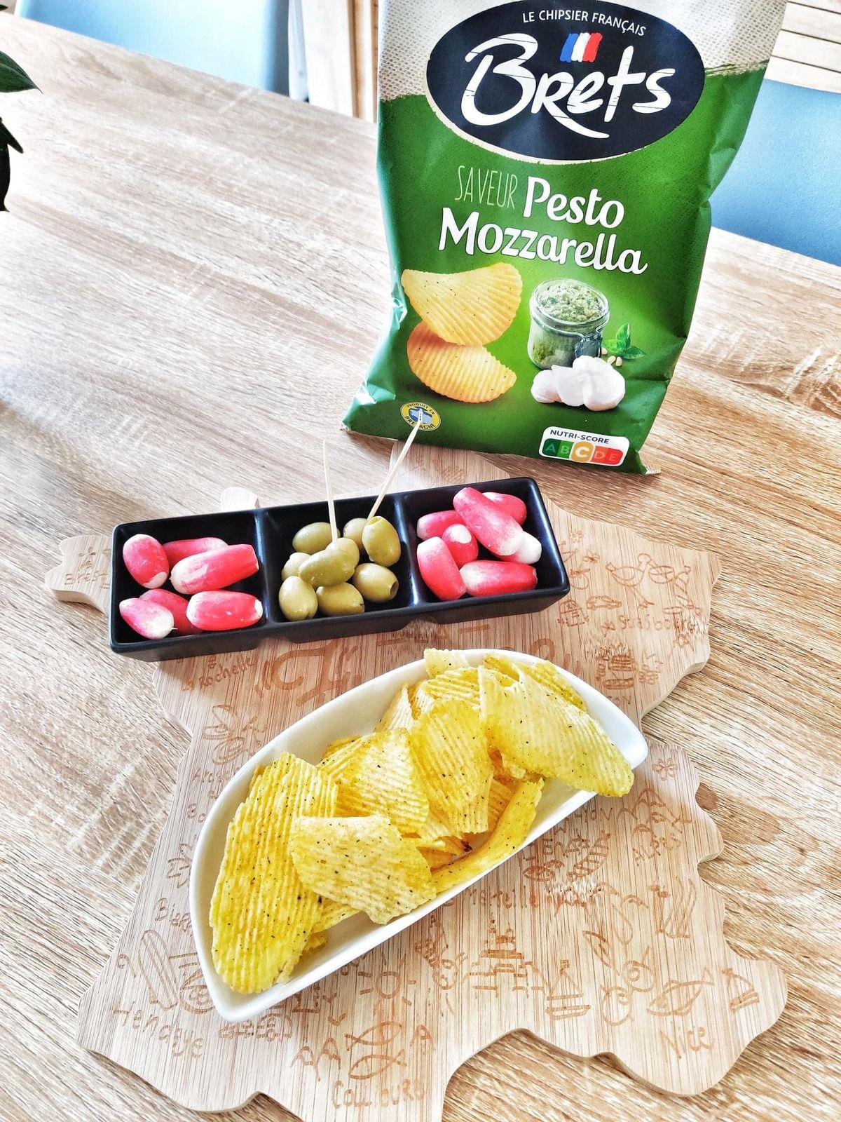chips pesto et mozzarella