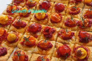 Pizzas Séquentielles aux Tomates Cerises du Jardin