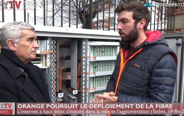 Orange déploie la fibre sur Tarbes (19 fév 18) | HPyTv La Télé de Tarbes
