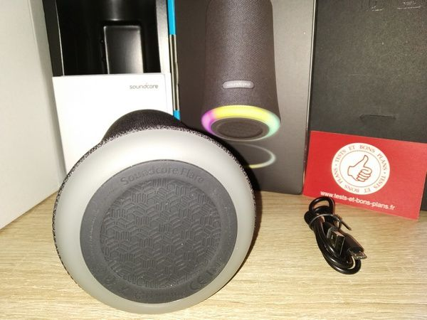unboxing enceinte nomade bluetooth Soundcore Flare @ Tests et Bons Plans