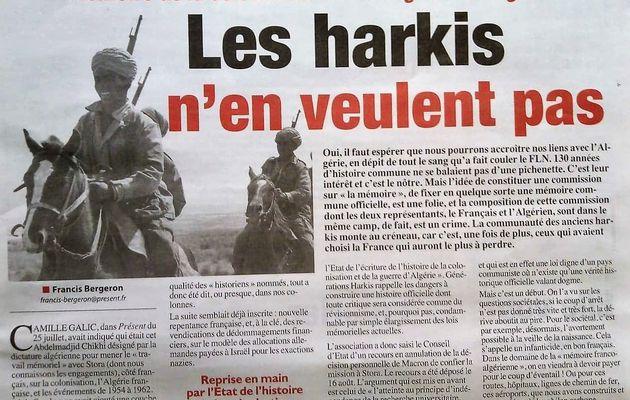 """""""Mémoire de la colonisation et de la guerre d'Algérie' Les harkis n'en veulent pas"""