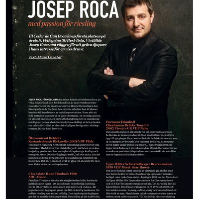 July 2013: Josep Roca, a passion for Riesling