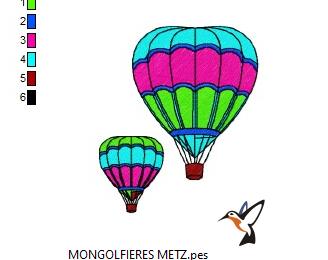 DE RETOUR -  UN PETIT TOUR EN MONGOLFIERE