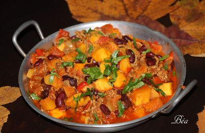 Courge sweet potato façon chili