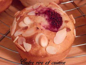 Muffins très moelleux Framboises, Ricotta et Amandes