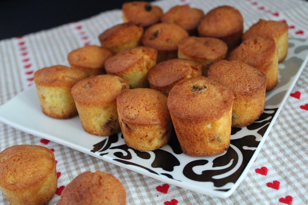 Muffins raisins secs et écorces d'oranges confites