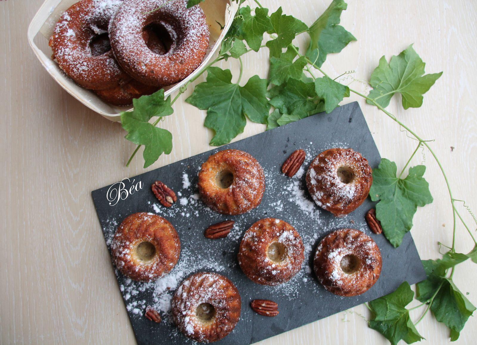 Petits  bundt cakes au sirop d'érable et aux noix de pécan