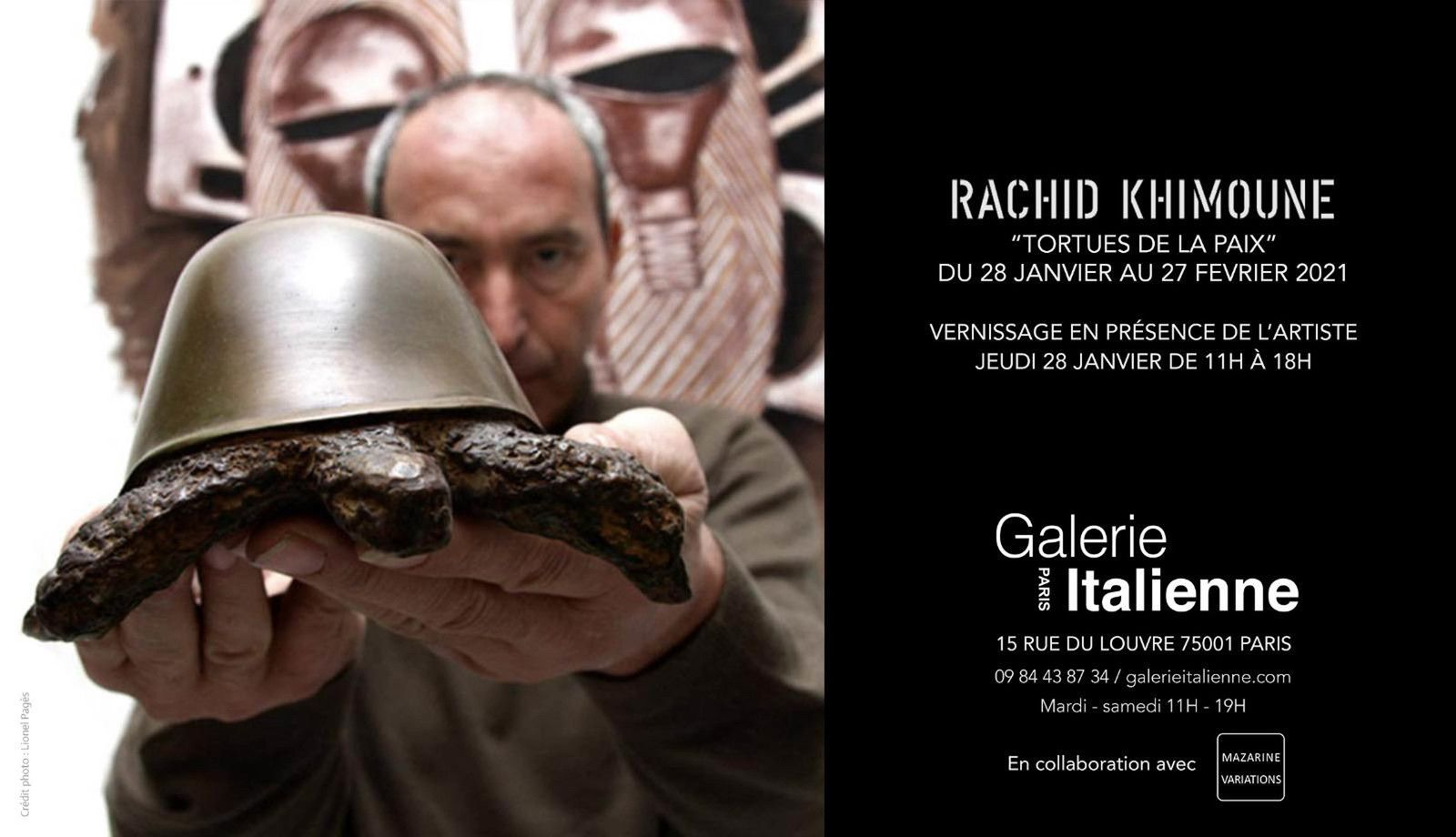 Exposition Sculpture Contemporaine: Rachid KHIMOUNE «TORTUES DE LA PAIX»