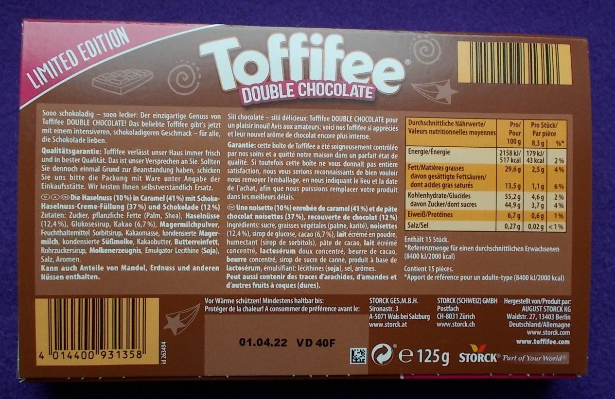 Toffifee Double Chocolate Limited Edition