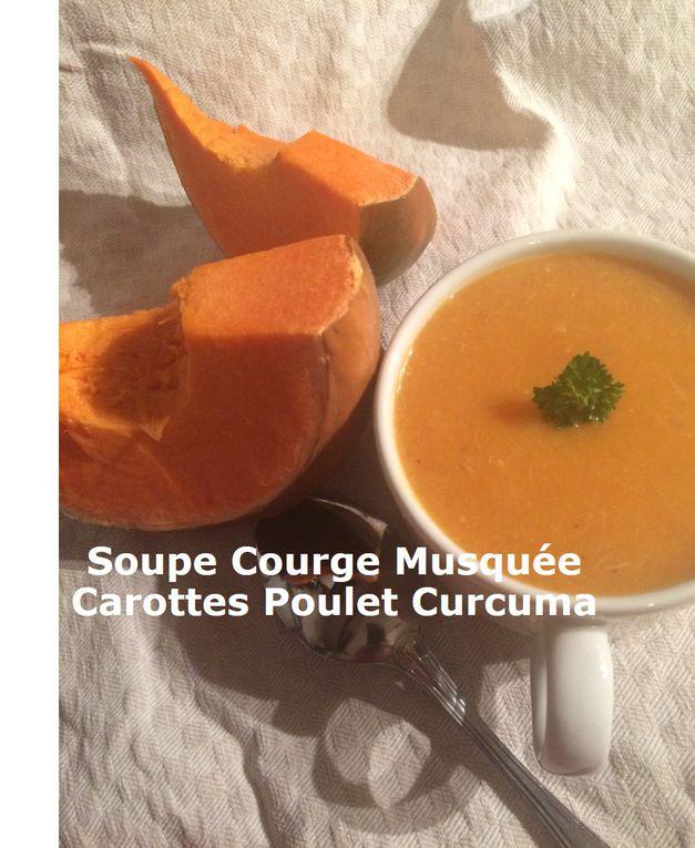 Soupe Courge Musquée Carottes Poulet Curcuma