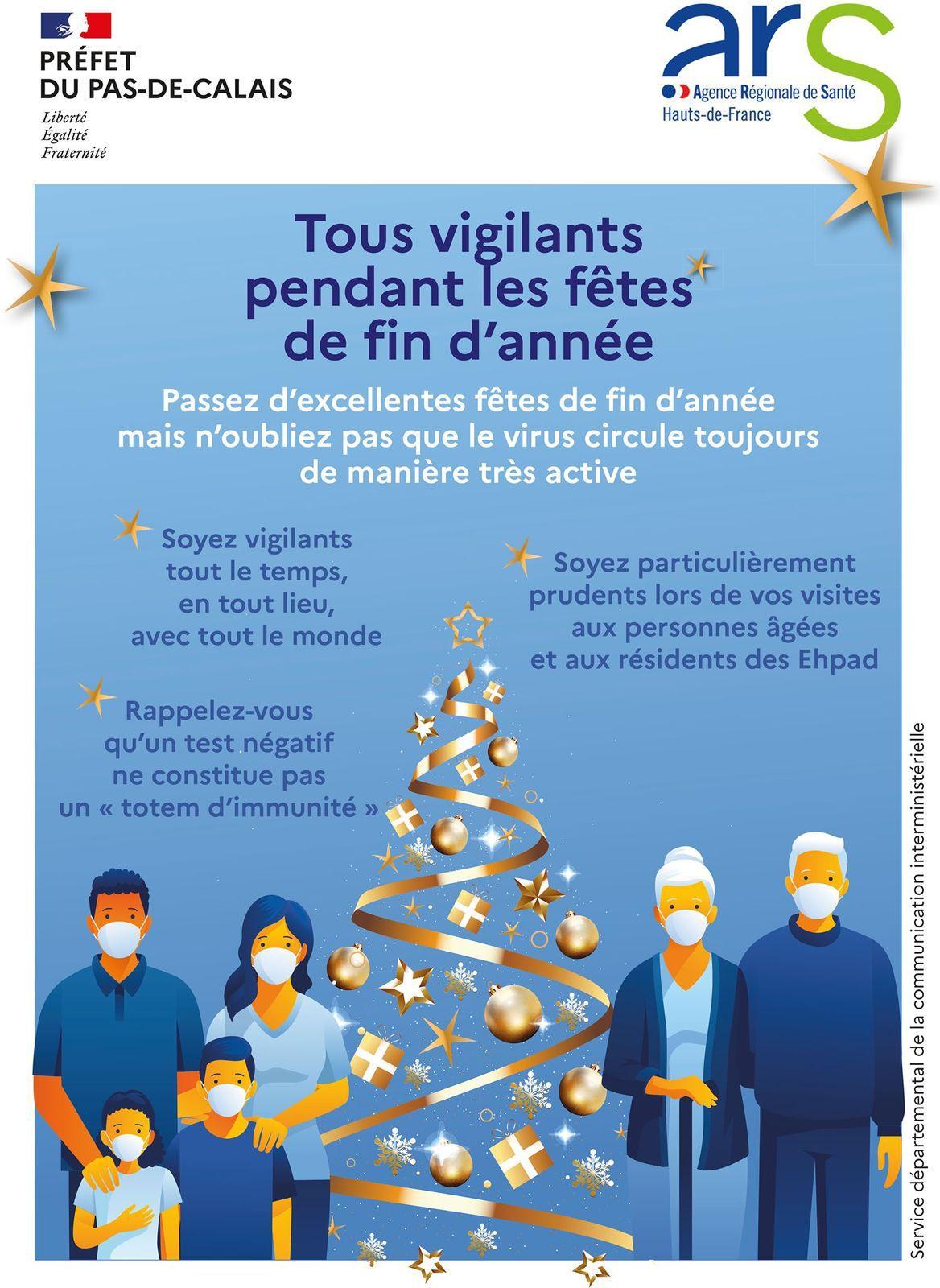 Restons tous vigilants pendant les fêtes de fin d'année !