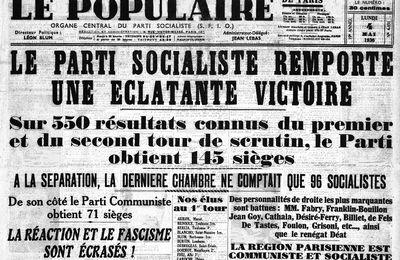Il y a 84 ans, le Front Populaire.