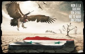 No to war on Syria