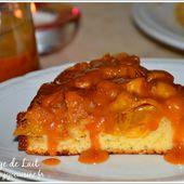 Gâteau Renversé aux Mirabelles et sauce au Caramel Beurre Salé - NUAGE DE LAIT