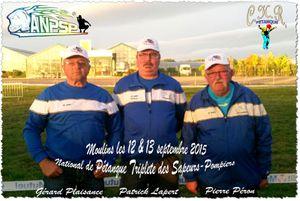 National Triplette des Sapeurs-Pompiers à Moulins