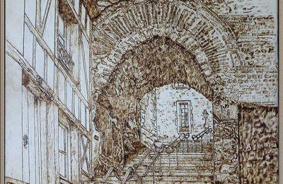 Pyrogravure sur bois du Vieux Mans, et autres sujets.