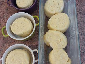 Avant et après la pousse la pâte doit avoir bien gonflé