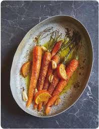 Carottes rôties safran-mandarine