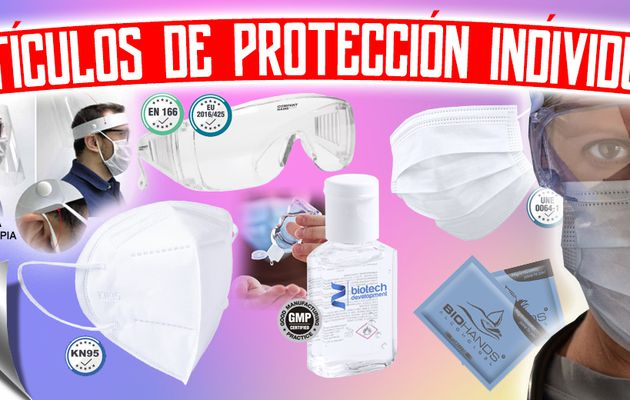 Artículos para protección individual COVID19