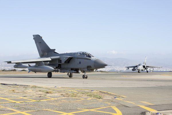 Photo : (c) UK Mod - Retour de leur première mission au-dessus de la Syrie.