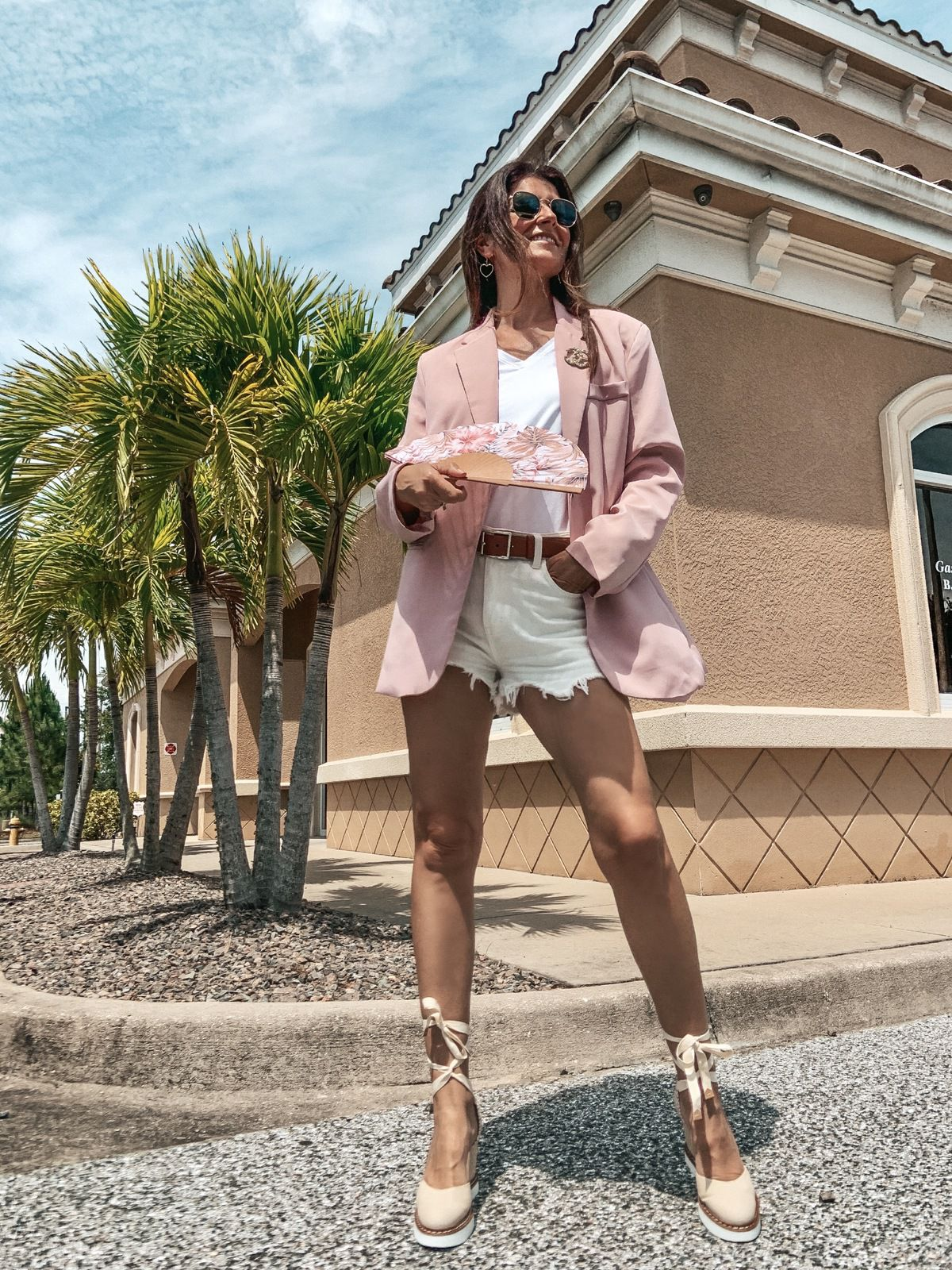 Shorts and blazer... Summer attire
