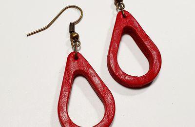 Boucles d´oreilles gota rouge