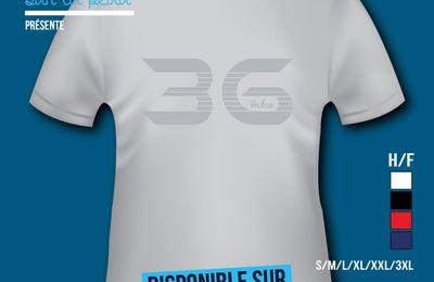 T-shirt: France - Centre - Indre 36.