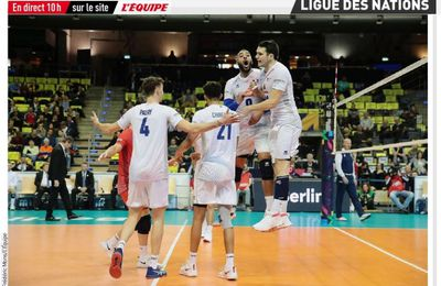 France / Bulgarie : Comment suivre la rencontre de Ligue des Nations de Volley ce vendredi ?