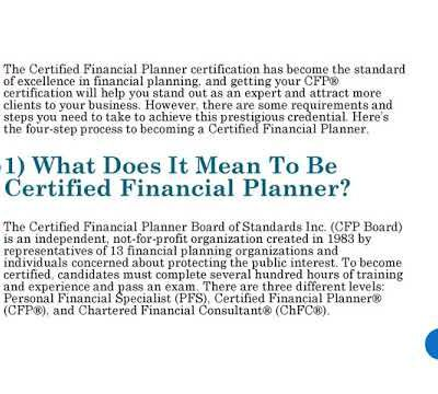 The 4-Step Process to Becoming a Certified Financial Planner