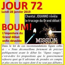Gilets jaunes - JOUR 72 : Grand débat: les secrets d'un hold-up : Chantal Jouanno dévoile les truquages du Grand Débat National
