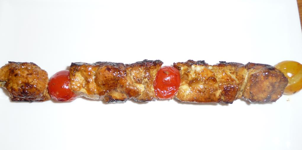 Brochettes de poulet au cocktail d'épices